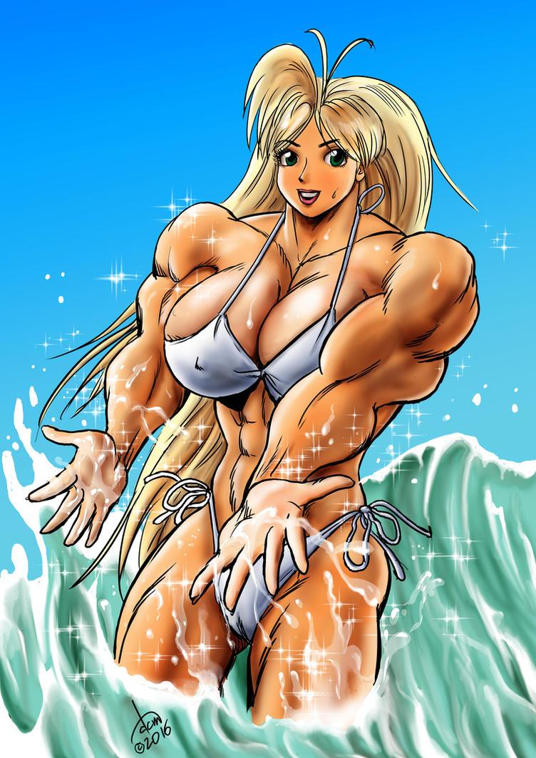 Tetsuko Makes A Splash by DavidCMatthews