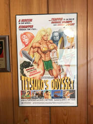 Tetsuko's Odyssey poster framed on wall by DavidCMatthews