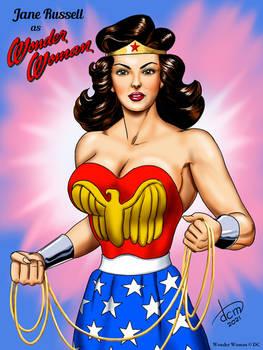 Jane Russell as Wonder Woman