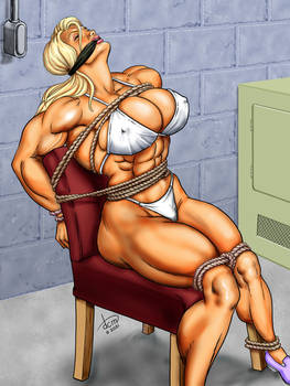 Satin Steele Tied to a Chair