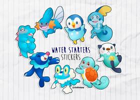Water Starters by Desinho