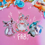 Espeon, Sylveon and Glaceon - stickers