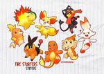 Fire Starters - stickers