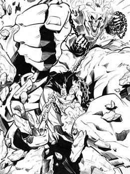 Steven Sanchez - Hulk in Chains Inks