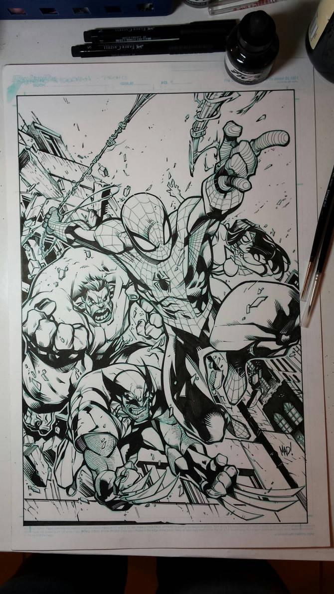 Joe Madureira - The Avenging Spider-Man Inks