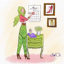 DuckScarves illustration by soefara