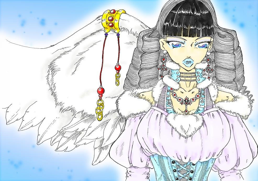 1 Winged Ice Angel_Colored by Bianca-Murasaki
