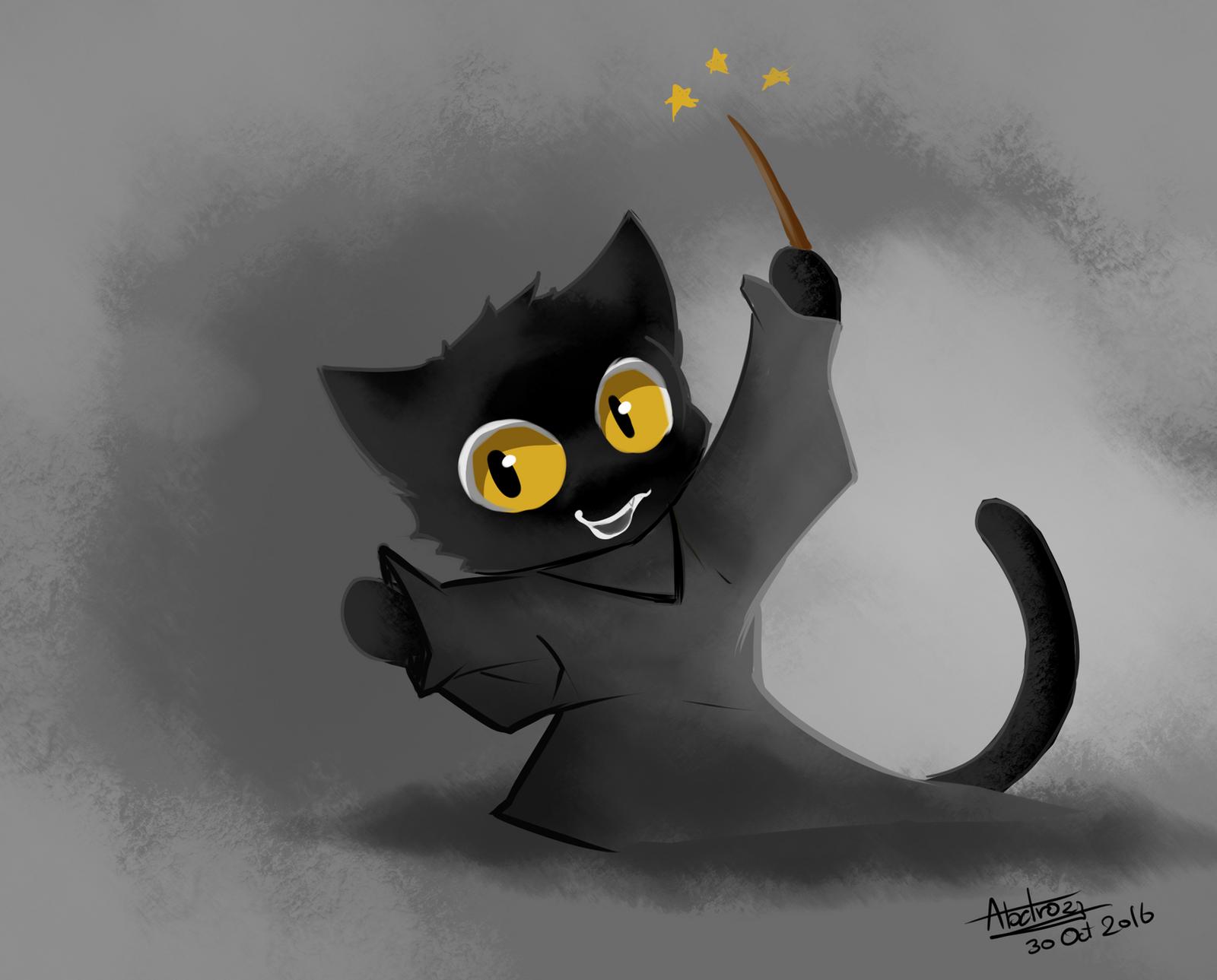 fanart google doodle halloween black cat by abatrozz on deviantart