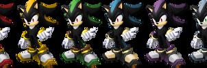 Smash Bros. Brawl: Shadow Recolors by Mach-7