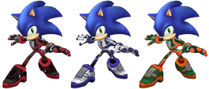 Racing Suit Sonic Recolors by Mach-7
