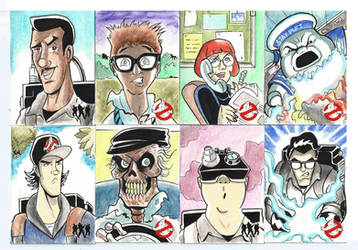 Ghostbusters sketch cards 2015