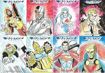 Justice League Sketch Cards for Cryptozoic