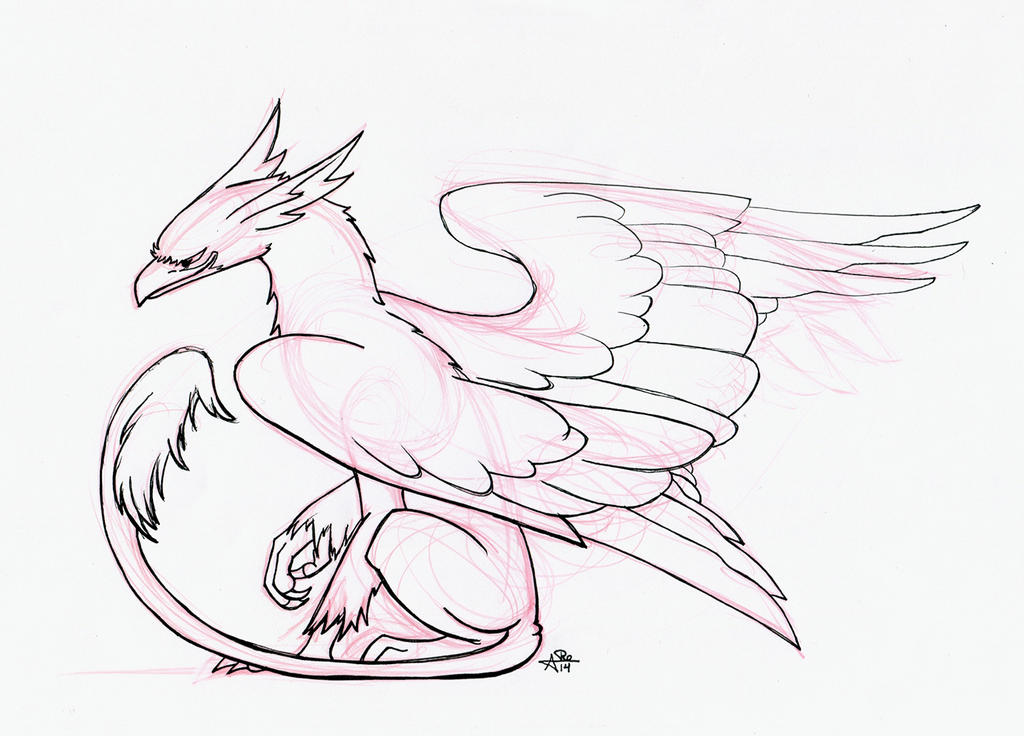 Inktober Day 4 - Gryphon