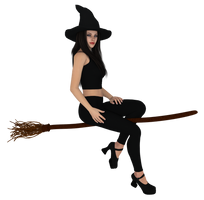 Free Halloween Clipart 4 - witch by freelydesign
