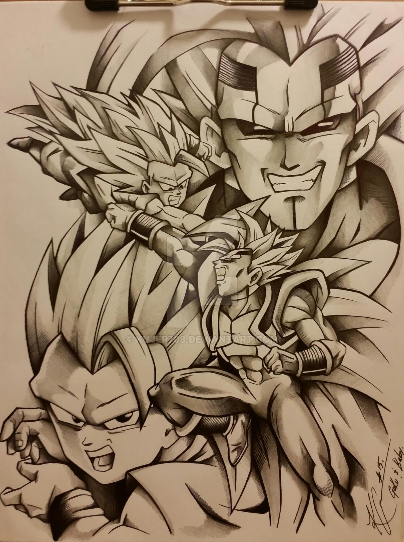 Kid Goku Ssj3 vs Baby Vegeta by Kujer708 on DeviantArt