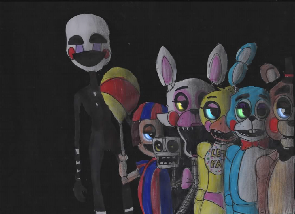 five nights at freddy s toy models by cutefoxterrierlover on deviantart