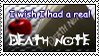 Real Death Note stamp