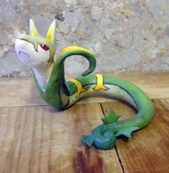 pokemon serperior sculpture by fizzycat