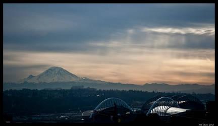 Mt Rainier and the City