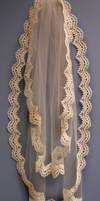Antique-Look Lace Veil