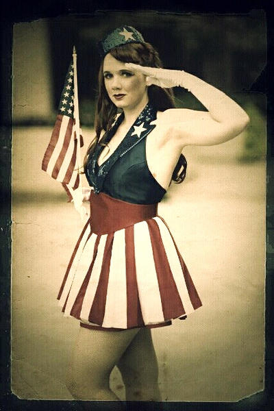 Vintage USO Salute by BenaeQuee