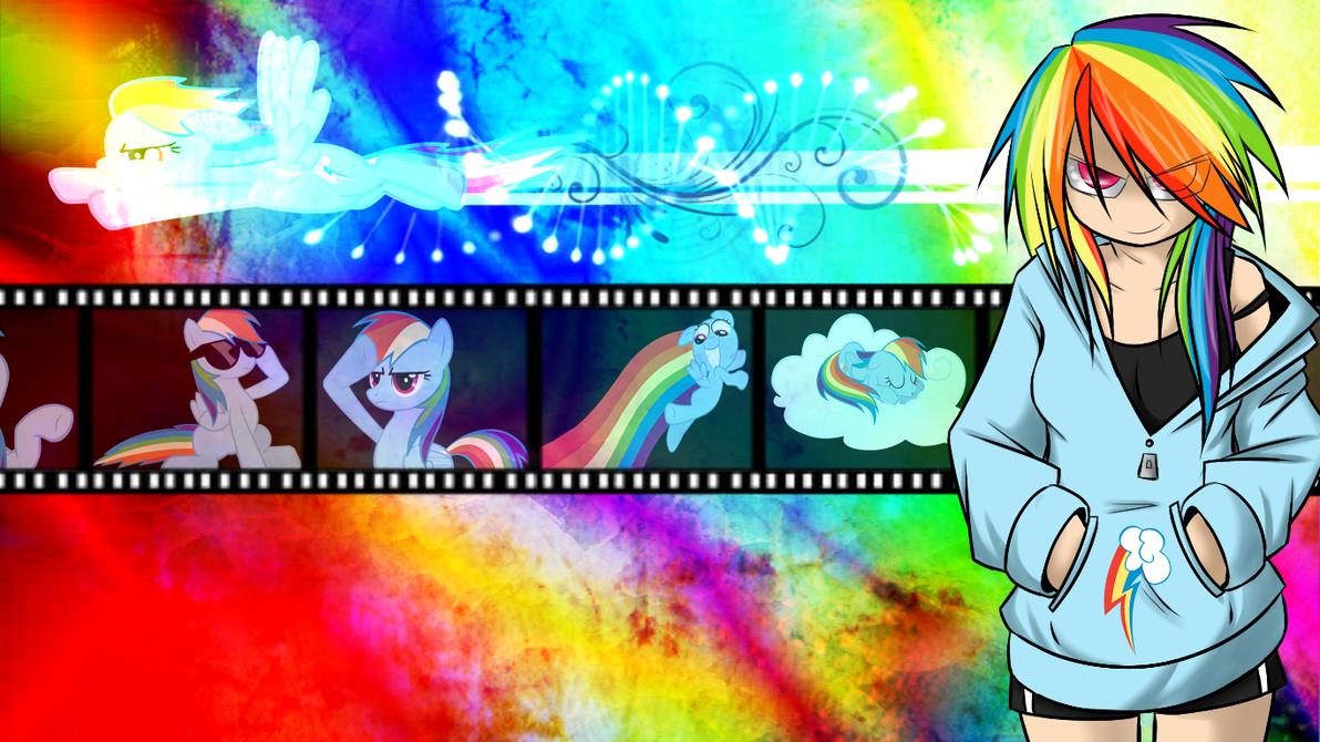 Rainbow Dash Wallpaper by KelCasual