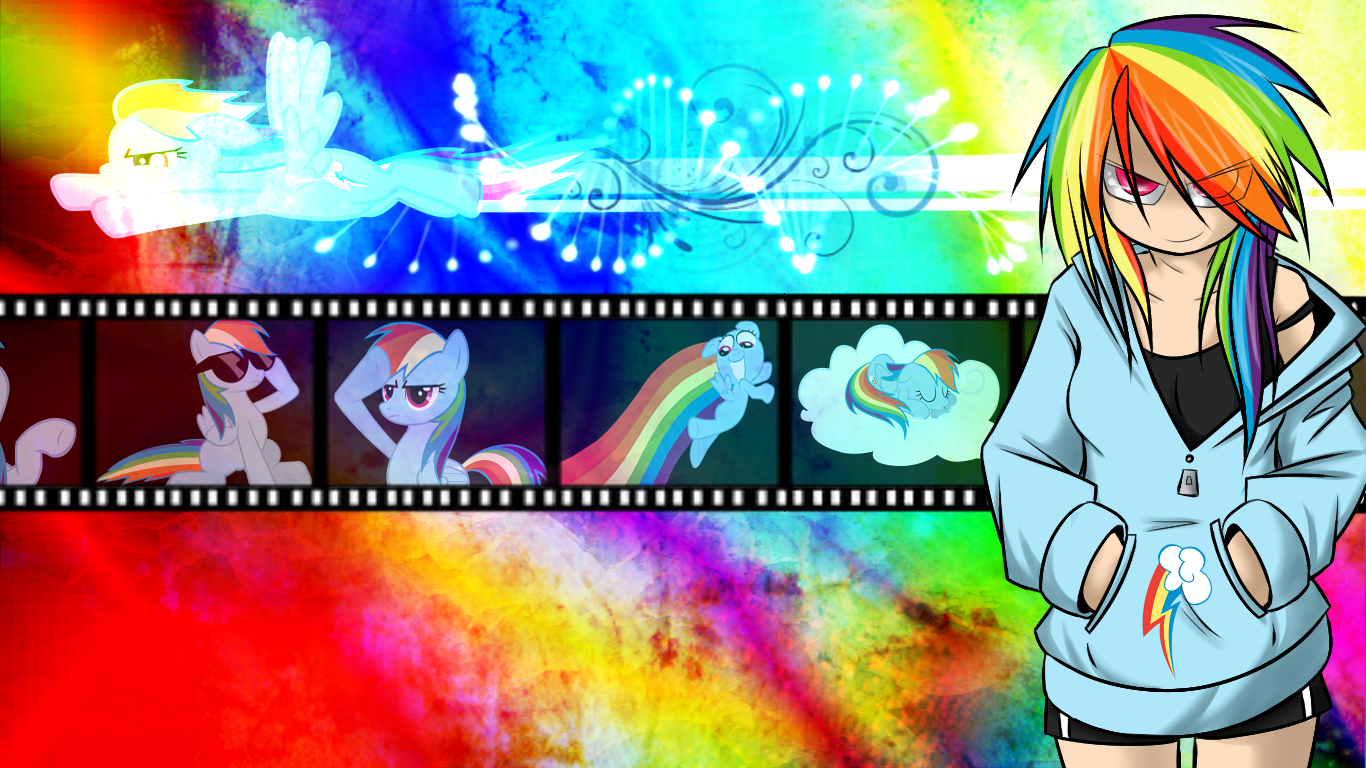 Rainbow Dash Wallpaper by Sketched-UP