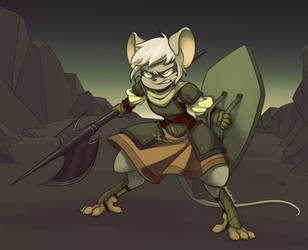 Mouse Warrior - Commission by KelCasual