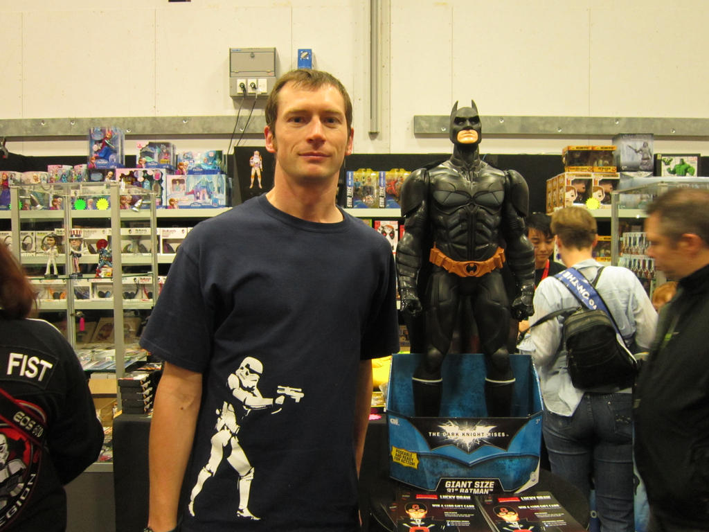 Batman model at Armageddon 2014 by arscarlet