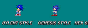 Sonic styles spriting.