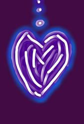 Glow heart. by GeneralSKAR