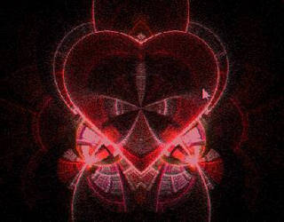 Beautiful Red Gothic Heart by GeneralSKAR