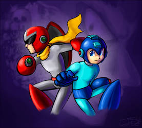Megaman and Protoman by Trinity630