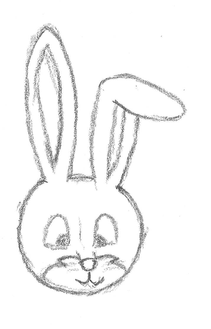 how to draw rabbit face