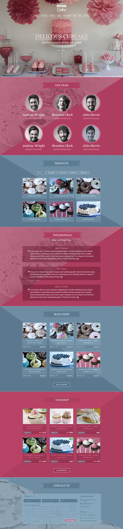 TheDeliciousCake PSD Template - Dark Version by webodream