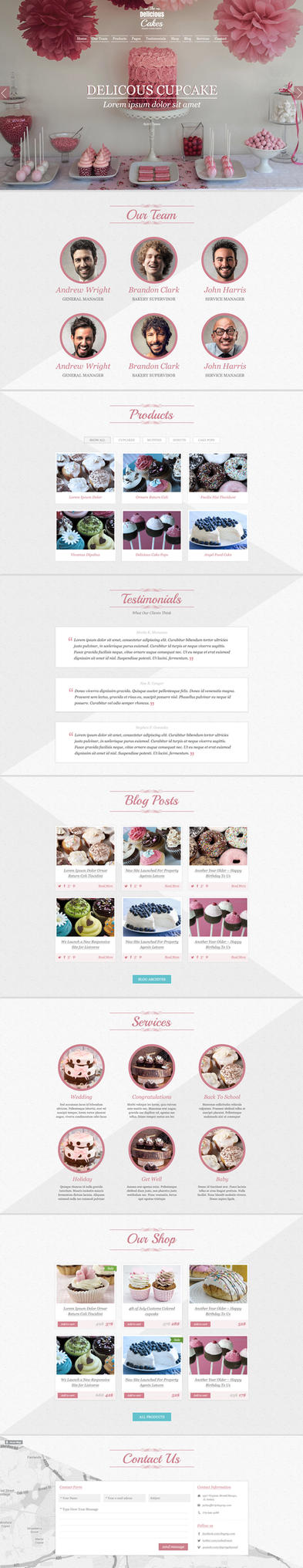 TheDeliciousCake PSD Template - Light Version by webodream