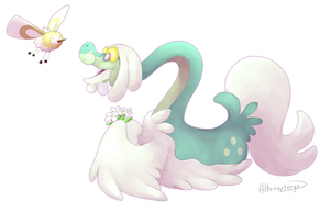 Drampa and Cutiefly by ArtVing