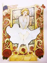MARILYN tribute (art nouveau is back) by ozzie325