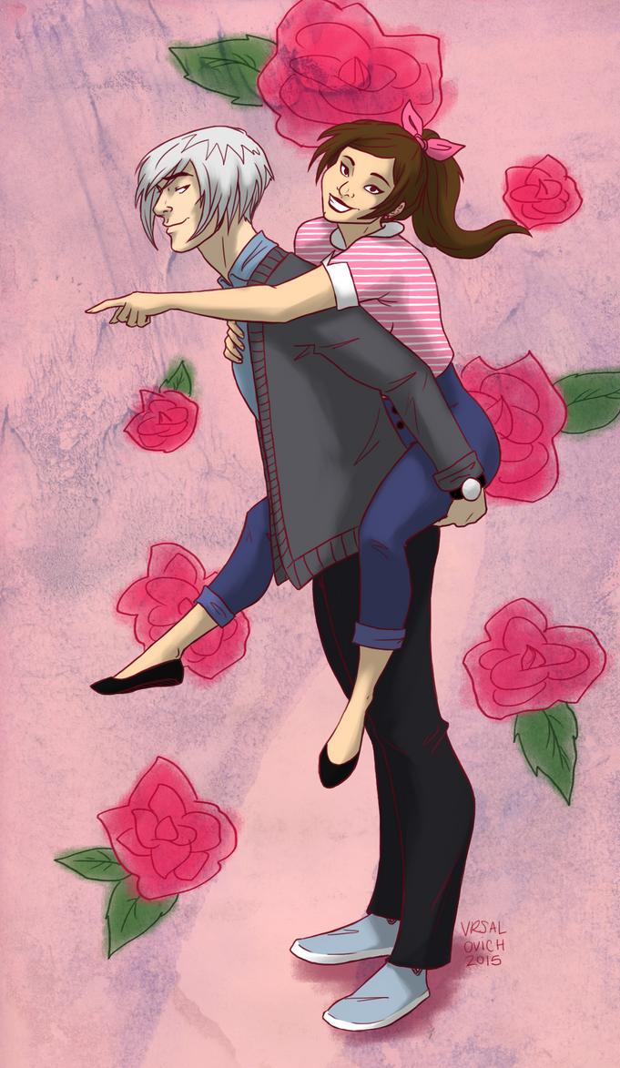 Nanami and Tomoe by Bonequisha
