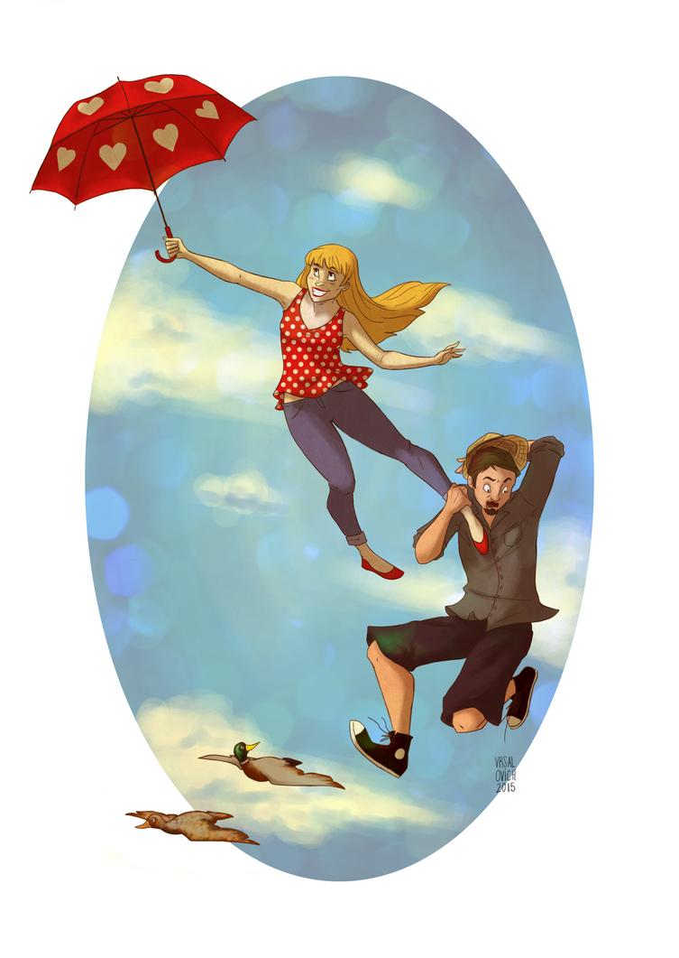 Up up and away! by Bonequisha