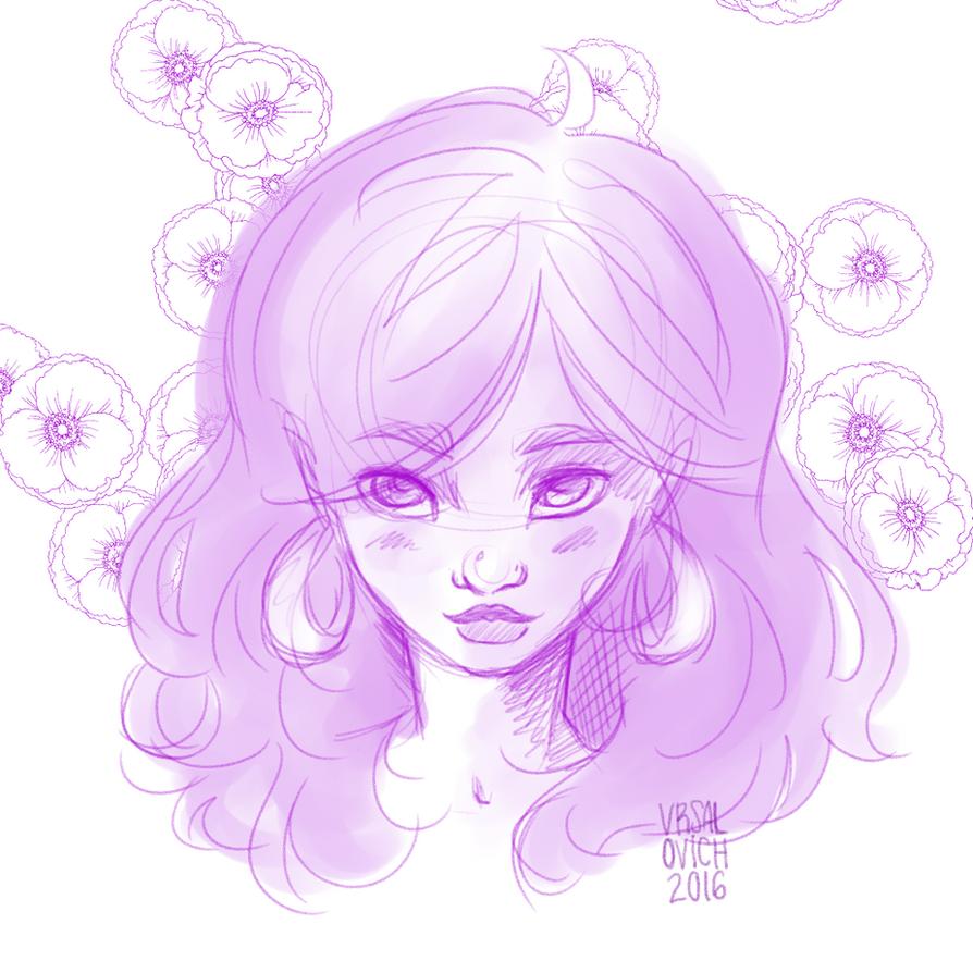 Purple Poppies by Bonequisha