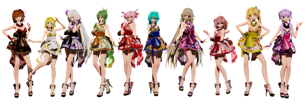 TDA Short Kimono Girls Pack by elina002