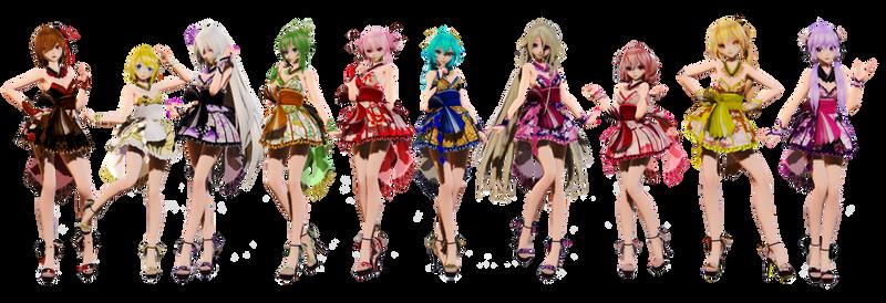 TDA Short Kimono Girls Pack