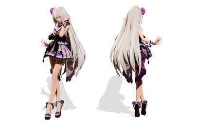Model DL - TDA Short Kimono Haku
