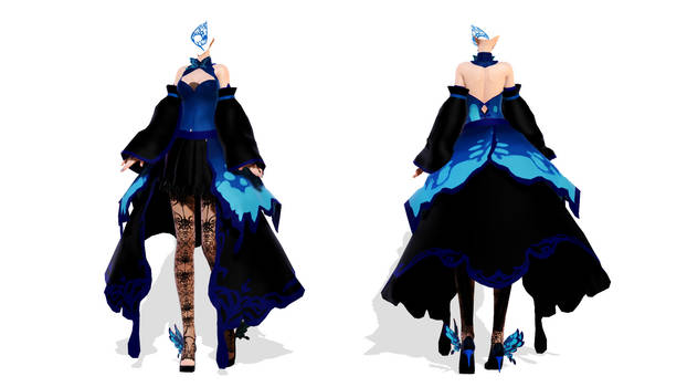 DL Down - TDA Butterfly Dress Body