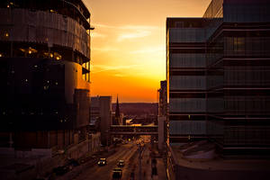 Grand Rapids At Sunset 2 by BreAnn