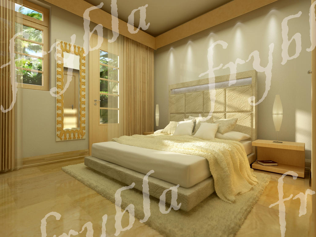 Bedroom interior design cg model rendering by frybla on for Model bedroom interior design
