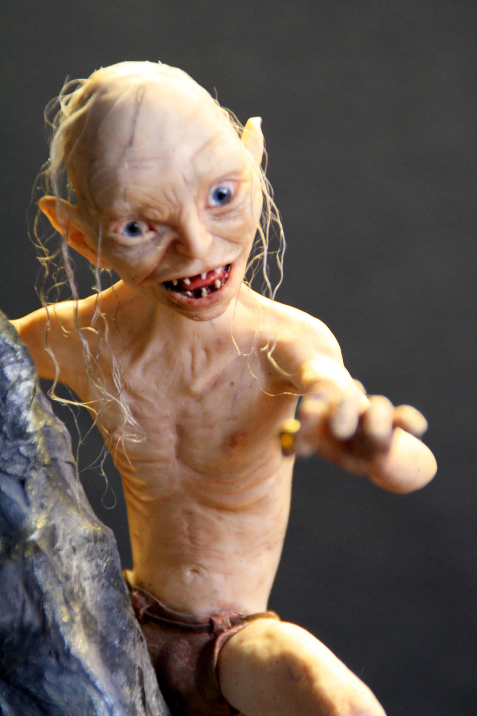 Gollum Action Figure - Polymer Clay HANDMADE by frybla