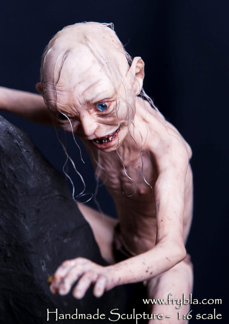 Gollum Action Figure Polymer Clay by frybla