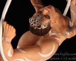 aerial hoop miniature sculputre OOAK by frybla